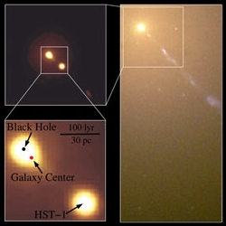 A Displaced Supermassive Black Hole in M87 (Source: HST)